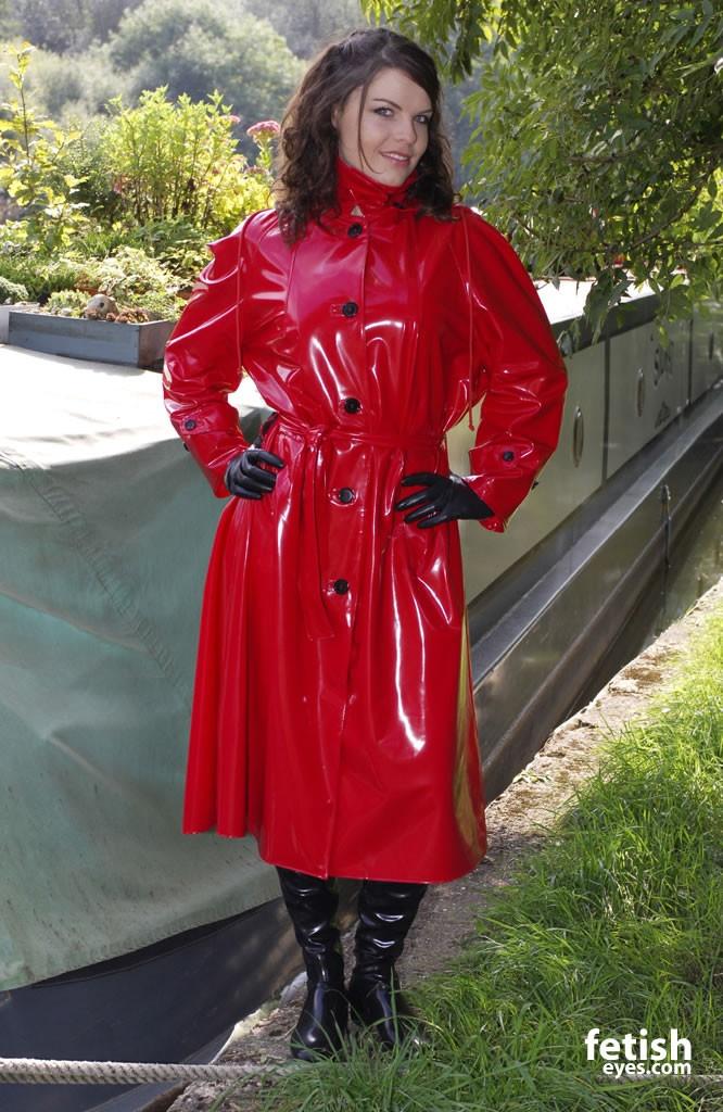 Long sexy pvc raincoats