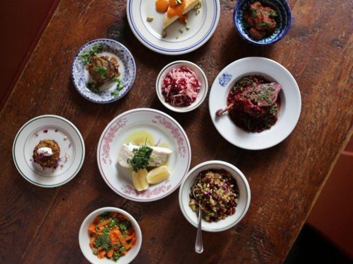 A Persian Hanukkah Meal, from Lamb Meatballs to Cheesecake - Bon Appétit