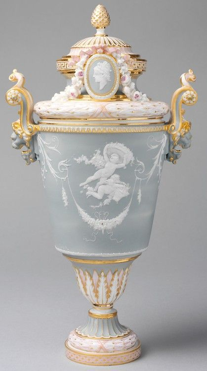 1883–85  French (Sèvres)  porcelain combining elements of rococo and neoclassical styles