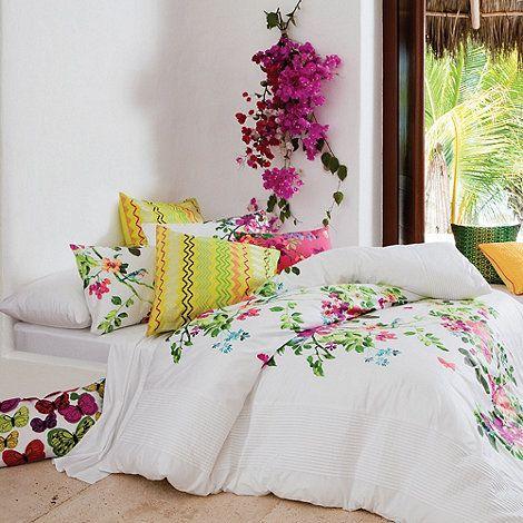 Kas White 'Chintz' bed linen- at Debenhams.com