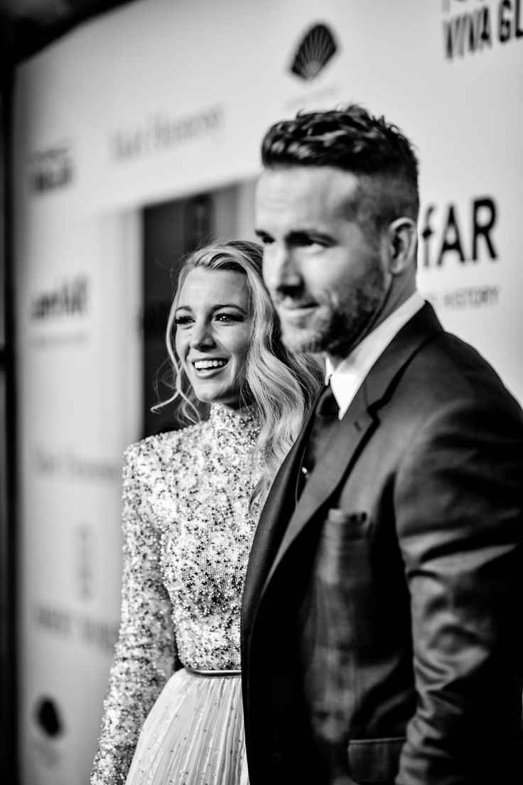 Blake Lively and ryan reynolds at 2016 AMFAR NEW YORK GALA
