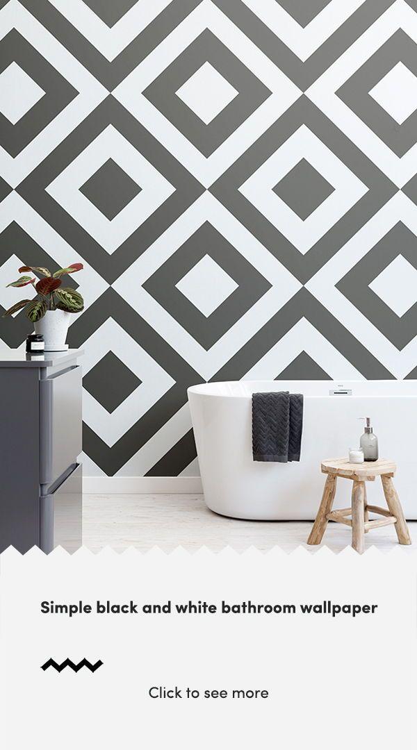 Black White Geometric Wallpaper Mural Hovia Uk Decor Black And White Wallpaper White Wallpaper Black geometric wallpaper uk