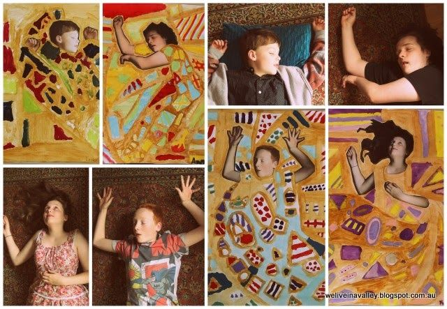 we did a Gustav Klimt inspired project for art ... it was great!