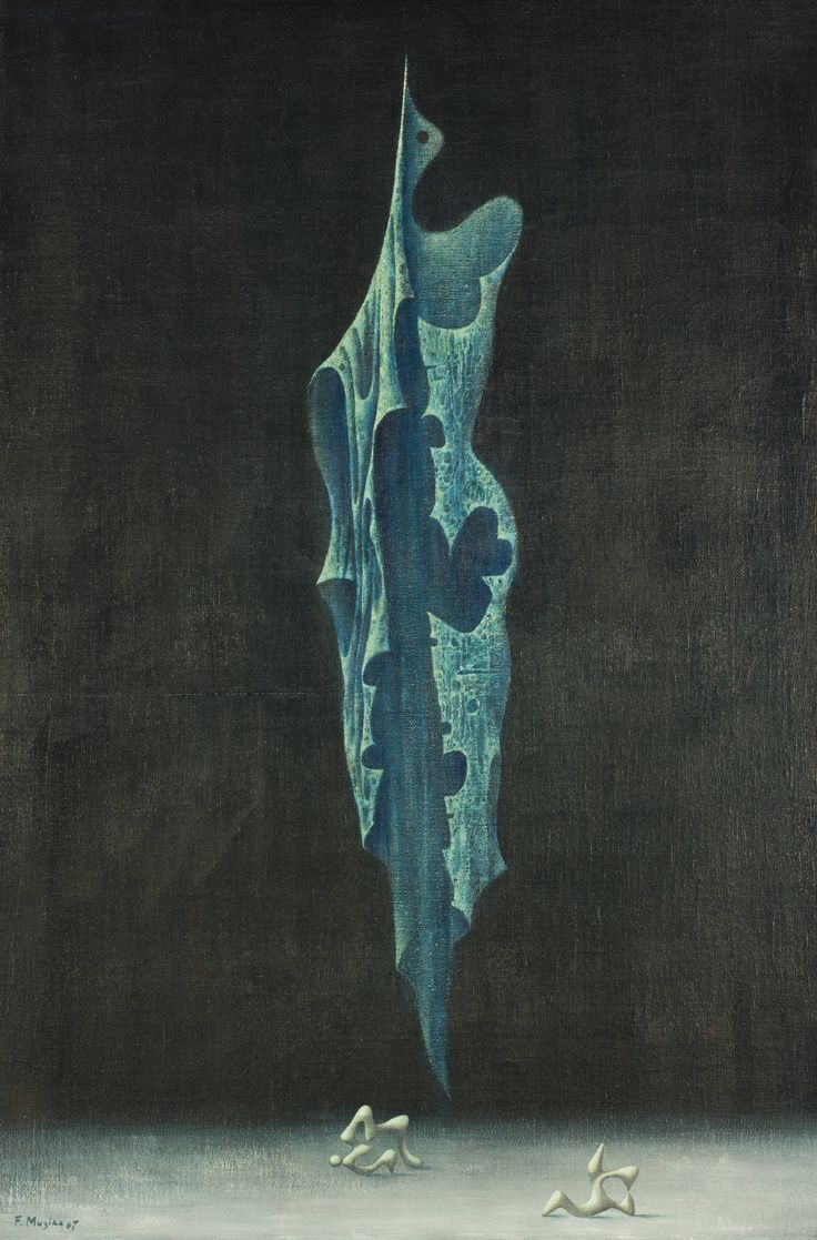 František Muzika - Larva IV (1967) #painting #Czechia #art #CzechArt