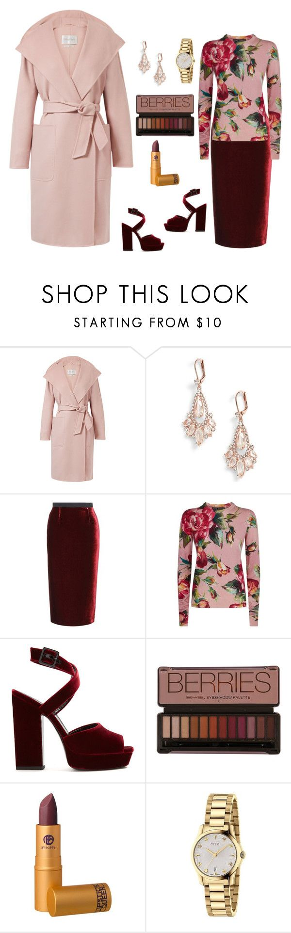 """Untitled #884"" by mamatoodie-1 ❤ liked on Polyvore featuring MaxMara, Kate Spade, Roland Mouret, Dolce&Gabbana, Yves Saint Laurent, Lipstick Queen and Gucci"
