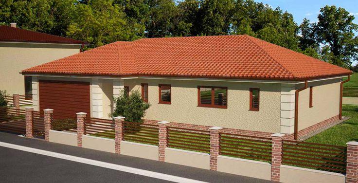bungalov v tvare L / modern house