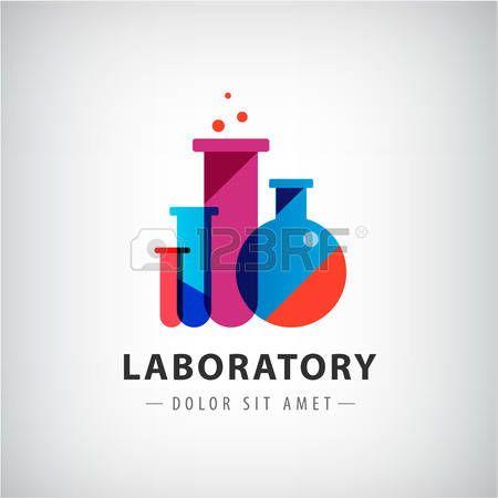 tubo: laboratorio vector, química, logotipo examen médico ...