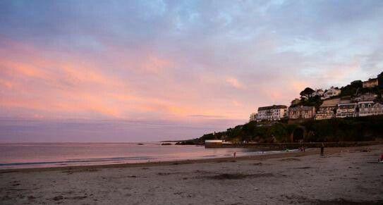 Looe Beach Sunset, Cornwall