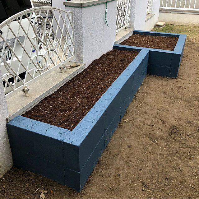 玄関 入り口 家庭菜園 庭 庭づくり 花壇diy などのインテリア実例