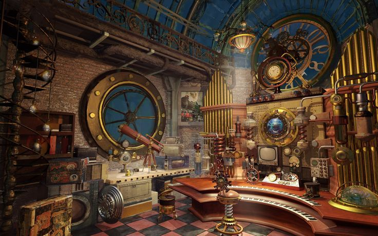 steampunk interior design google search steampunk buildings pinterest innenr ume. Black Bedroom Furniture Sets. Home Design Ideas