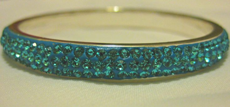 Turquoise Crystal Pave Bangle
