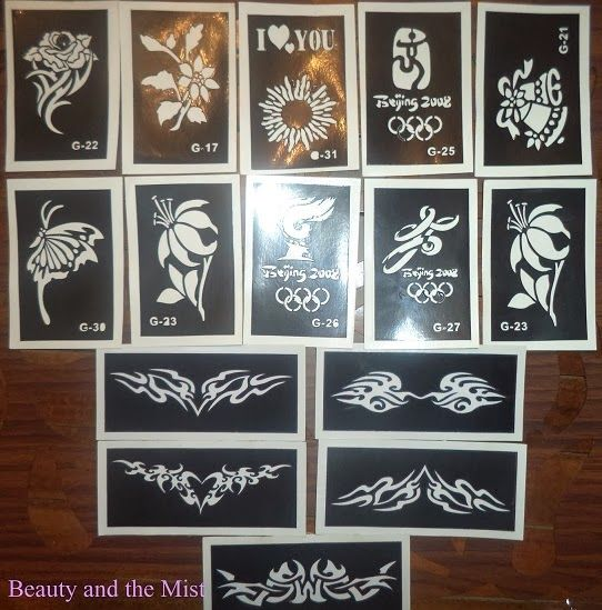 Beauty and the Mist - everything about beauty: Glitter Tattoo stickers