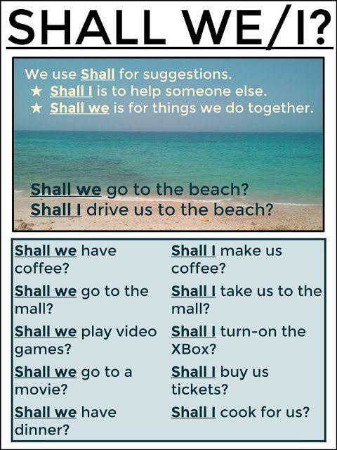 #tesol #tefl #grammar #learnenglish #esl #elt AskPaulEnglish: SHALL I/WE?