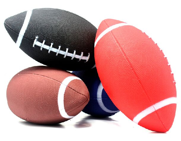 1 قطعة 6 # الأمريكية للرجبي الكرة المطاطية لينة كرات ل سلامة الطفل الاطفال الشباب الرجال النساء