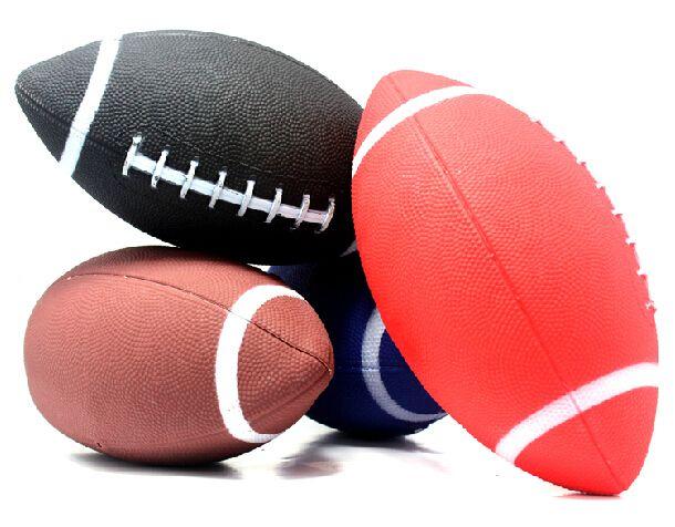 1 unidades 6 # fútbol Americano rugby pelota de Goma pelotas suaves para niños jóvenes mujeres de los hombres de seguridad