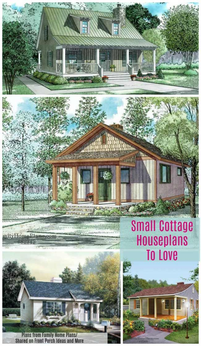 Small Cottage House Plans With Amazing Porches Small Cottage House Plans Porch House Plans Small Cottage Homes