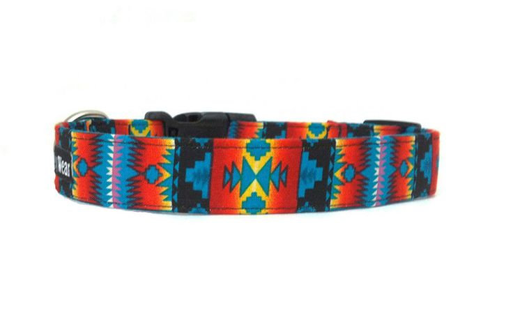 Southwestern Native American Indian Tribal Turquoise Adjustable Dog Collar in Pet Supplies | eBay