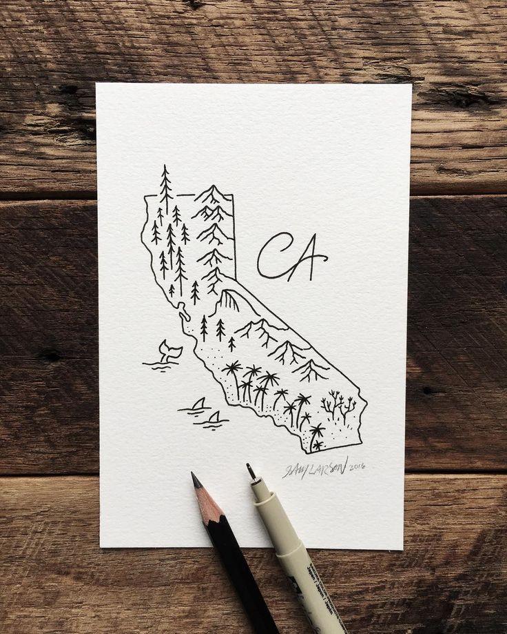For my CA friends. #california #art #illustration by samlarson