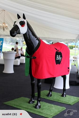 Billy Apple designed this horse for a fundraiser in association with Resene Paints, NZ. (2011)