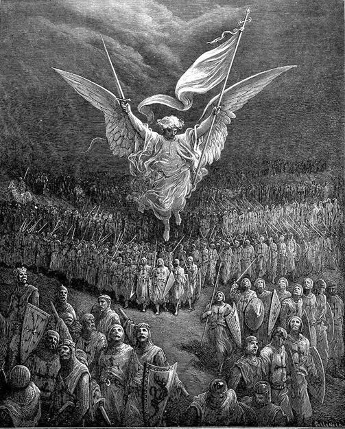 Gustave Dore, Illustration of the first crusade - On the road to Jerusalem.