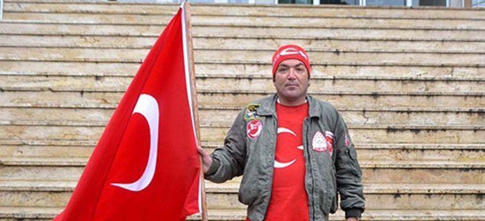 Şehitler için Türk Bayrağı ile Çanakkale'ye Yürüyecek