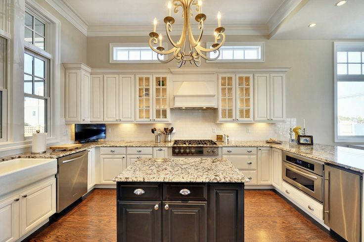 Windows above cabinets