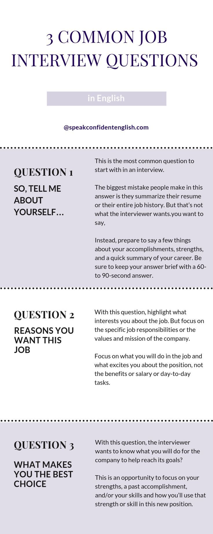10 Common Job Interview Questions In English You Need To Know
