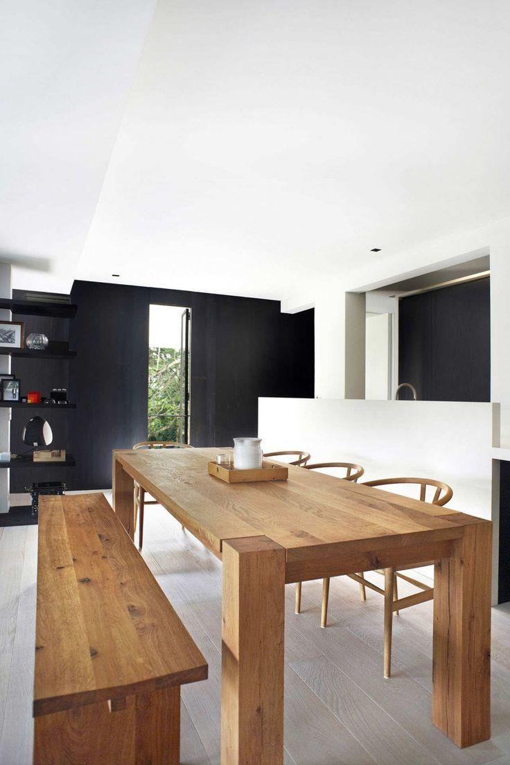 Block Dinning Room Table & Bench