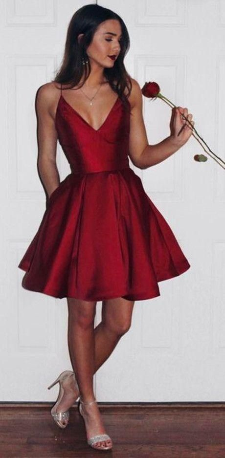burgundy homecoming dresses,short homecoming dresses,homecoming dresses with pockets ,Meet Dresses