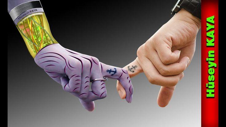 Robot girl and love manipulation  Photoshop tutorial speed art Hüseyin K...