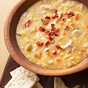 Creamed chicken and corn soup ♥