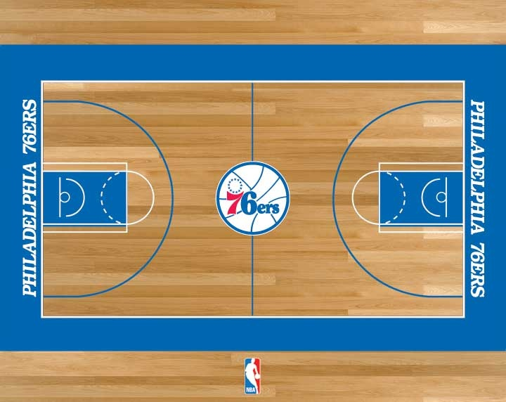 philadelphia 76ers basketball court nba pinterest