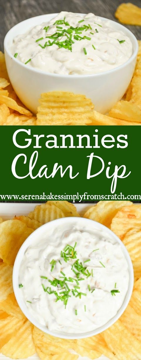 Grannies Clam Dip is not only easy to make but wont last long! Perfect for holiday parties, Thanksgiving, Christmas, Tailgating and Superbowl! #SundaySupper