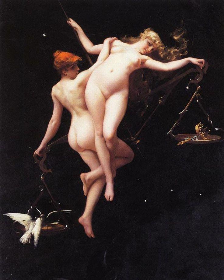 Luís Ricardo Falero (1851 - 1896) -  The Balance of the Zodiac.