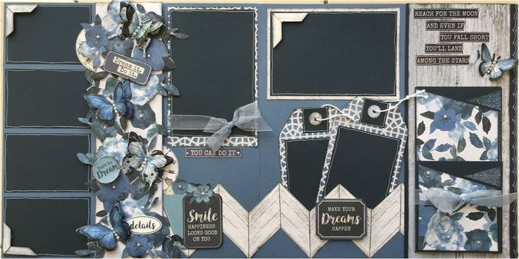 INDIGO SKIES layout by Michelle van Wyk The Offical South Africa KAISERCRAFT Scrapbooking Kit Club