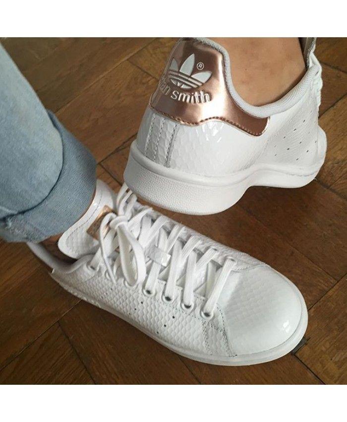 9ec2d9ee49bac9 Womens Adidas Stan Smith Core Rose Gold White Trainer   adidas womens   Adidas  stan smith, Adidas women, Adidas