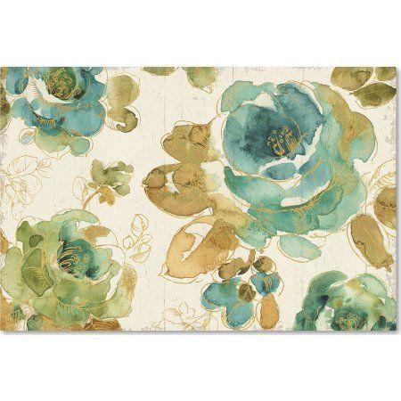 Trademark Fine Art My Greenhouse Roses I on Wood Cream Canvas Art by Lisa Audit, Multicolor