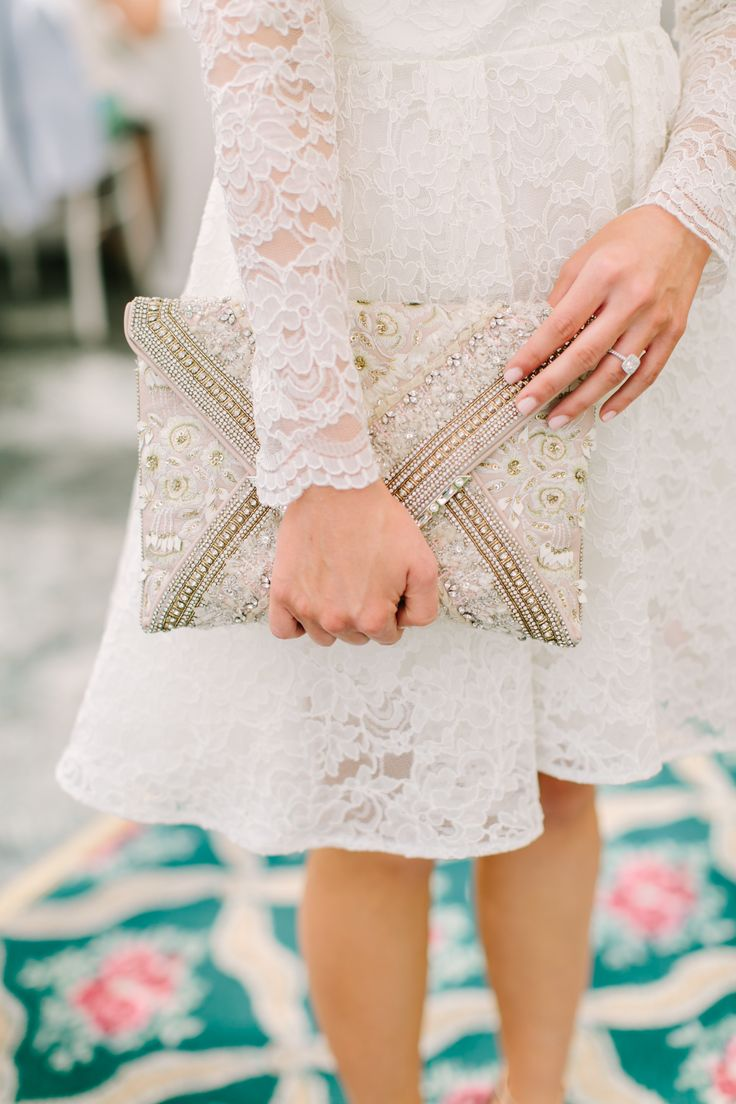 "Beaded wedding clutch: Why Flower Bars Are the New ""It"" Bridal Shower Detail"