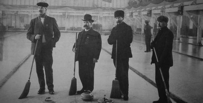 Vintage curling game
