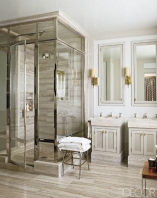 Design by Steven Gambrel: Bathroom Design, Floors, Modern Bathroom, Masterbath, Decoration Bathroom, Glasses Showers, Showers Doors, Bathroom Idea, Master Bathroom