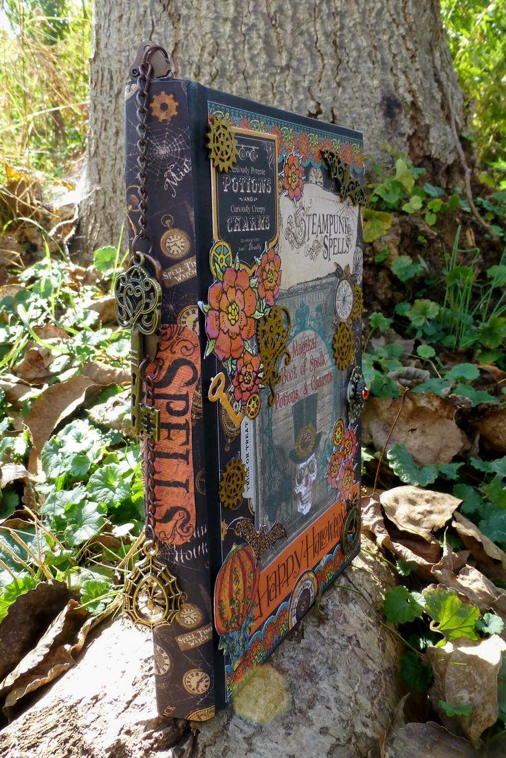 Jungle scrapbook ideas - Steampunk Spellbook Scrapbook Com
