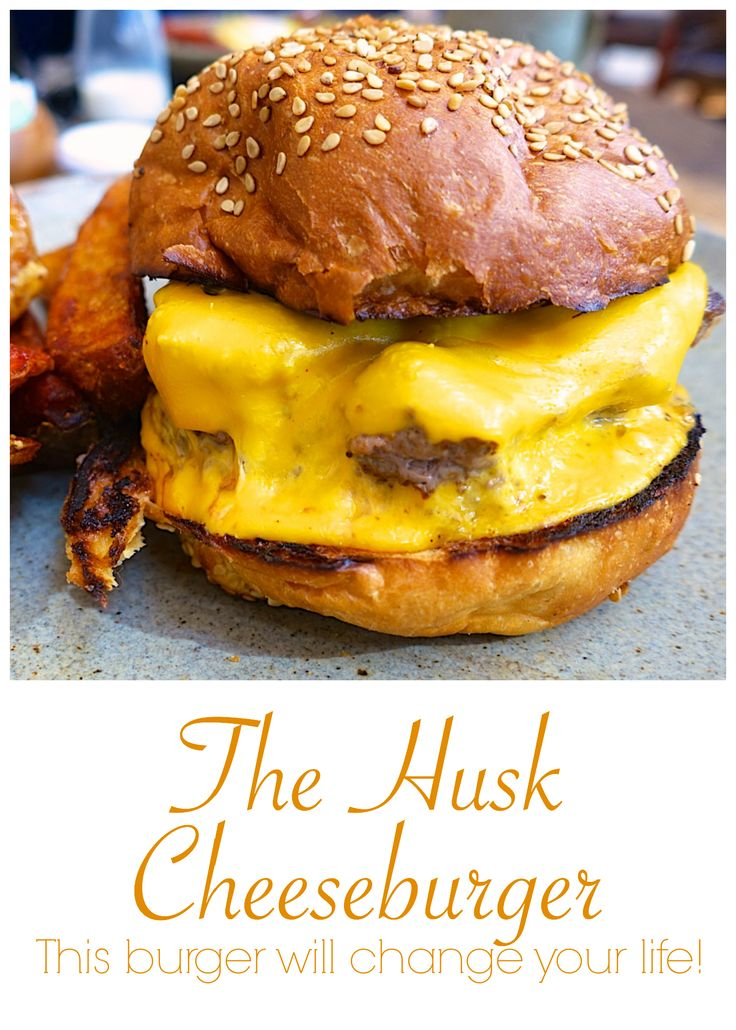The Husk Cheeseburger (Husk Restaurant in Nashville, TN) - beef, american cheese, ketchup, special sauce and paprika potato wedges - This burger will change your life!
