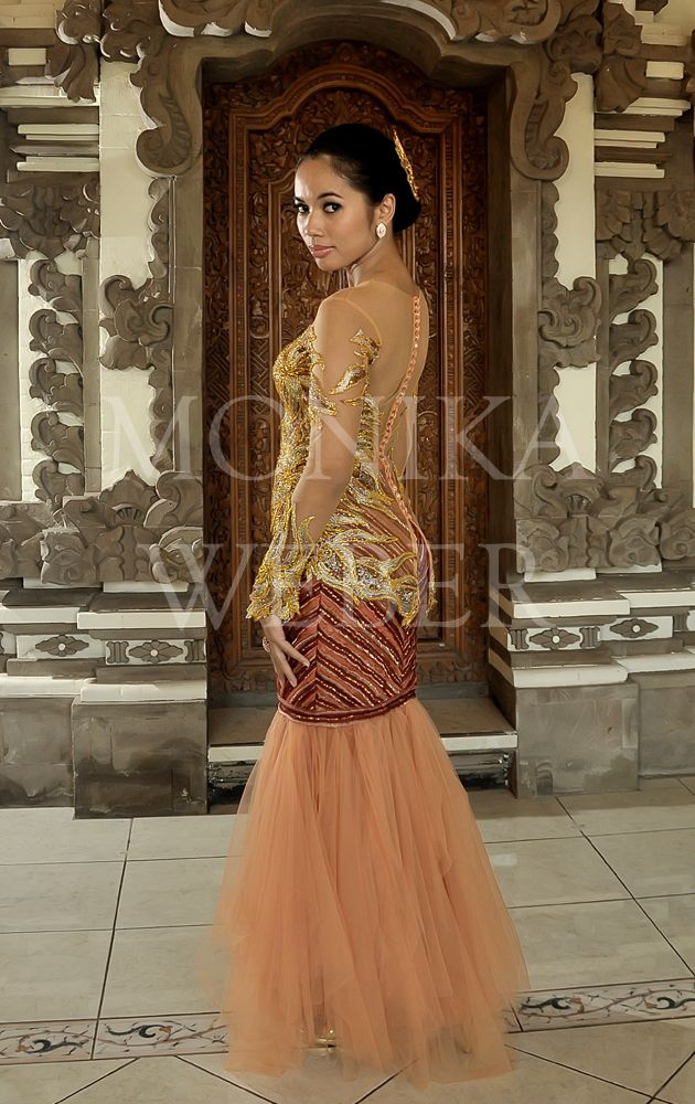 Orange Asymmetric Kebaya