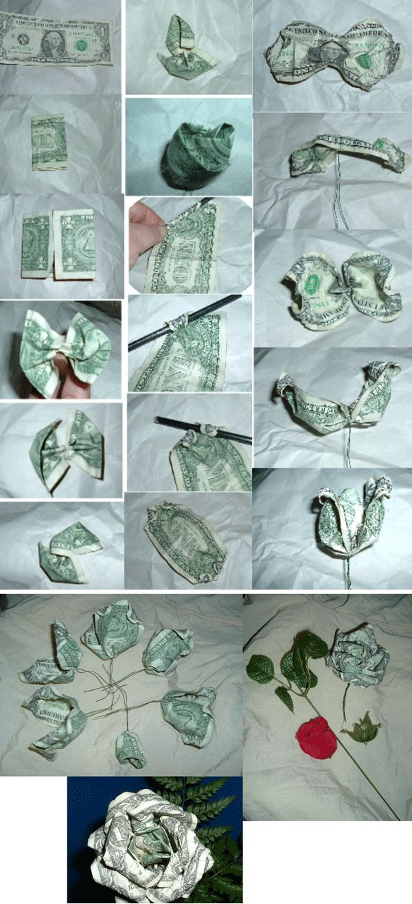 Money rose bouquet for St Patrick's Day. Could be fun. Instructions here.