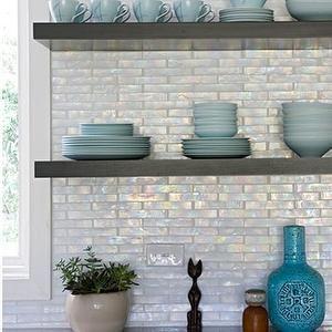 iridescent tile kitchen backsplash