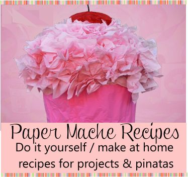 7 best birthday crafts images on pinterest birthdays anniversary paper mache recipe for making birthday party pinatas 4 quick and easy homemade recipes for paper mache piatas or projects solutioingenieria Gallery