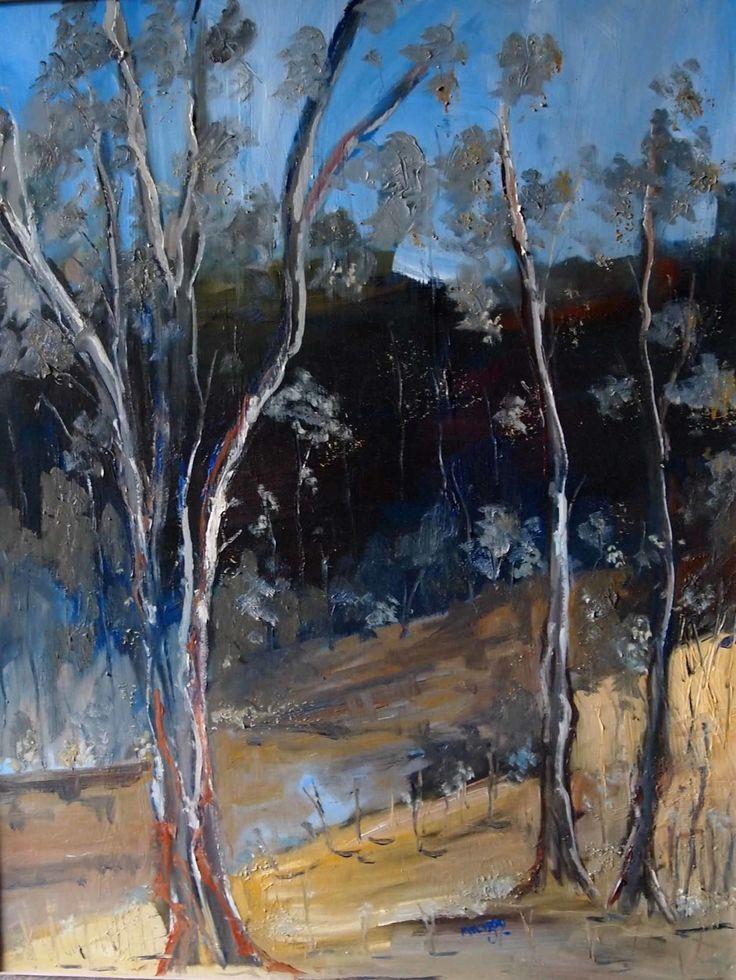 """Sugarloaf Creek at Broadford VIC (framed ready to hang)"" by Margaret Morgan (Watkins). Paintings for Sale. Bluethumb - Online Art Gallery"