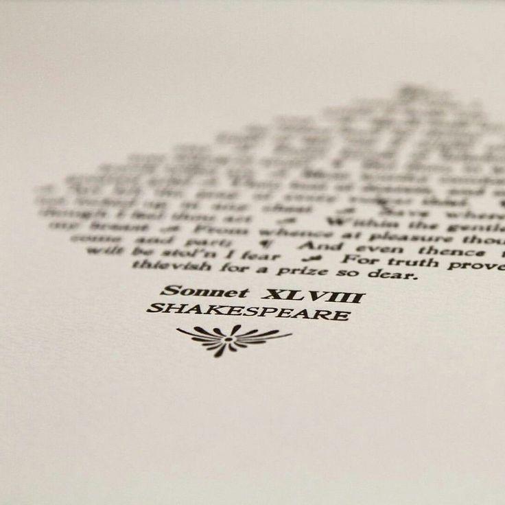 Sonnet 48 Shakespeare letterpress print by TheSmallprintCompany on Etsy