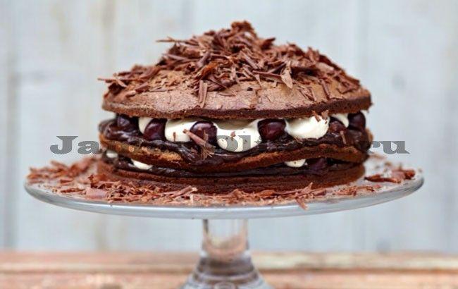 Шварцвальдский торт с вишней - рецепт от Джейми Оливера