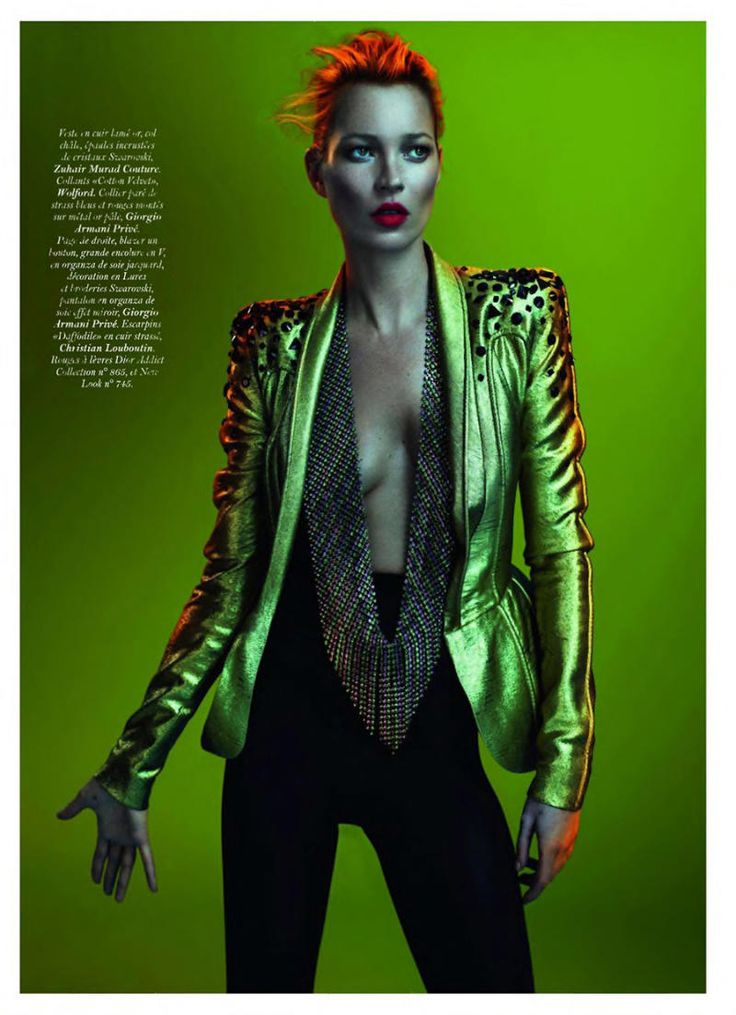80's Glam Rock look - think David Bowie (originally from Vogue Paris May 2011 by Mert & Marcus / Kate Moss)